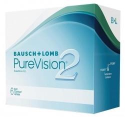Линзы контактные, Пюэвижн 2 №6 HD bc 8.6 (-1.75)