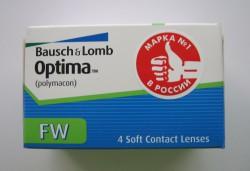 Линзы контактные, Оптима №4 FW bc 8.7 мм (-1.75)