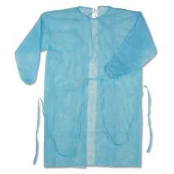 Халат хирургический стерильный, р. 52-54 140 см пл 42 голубой